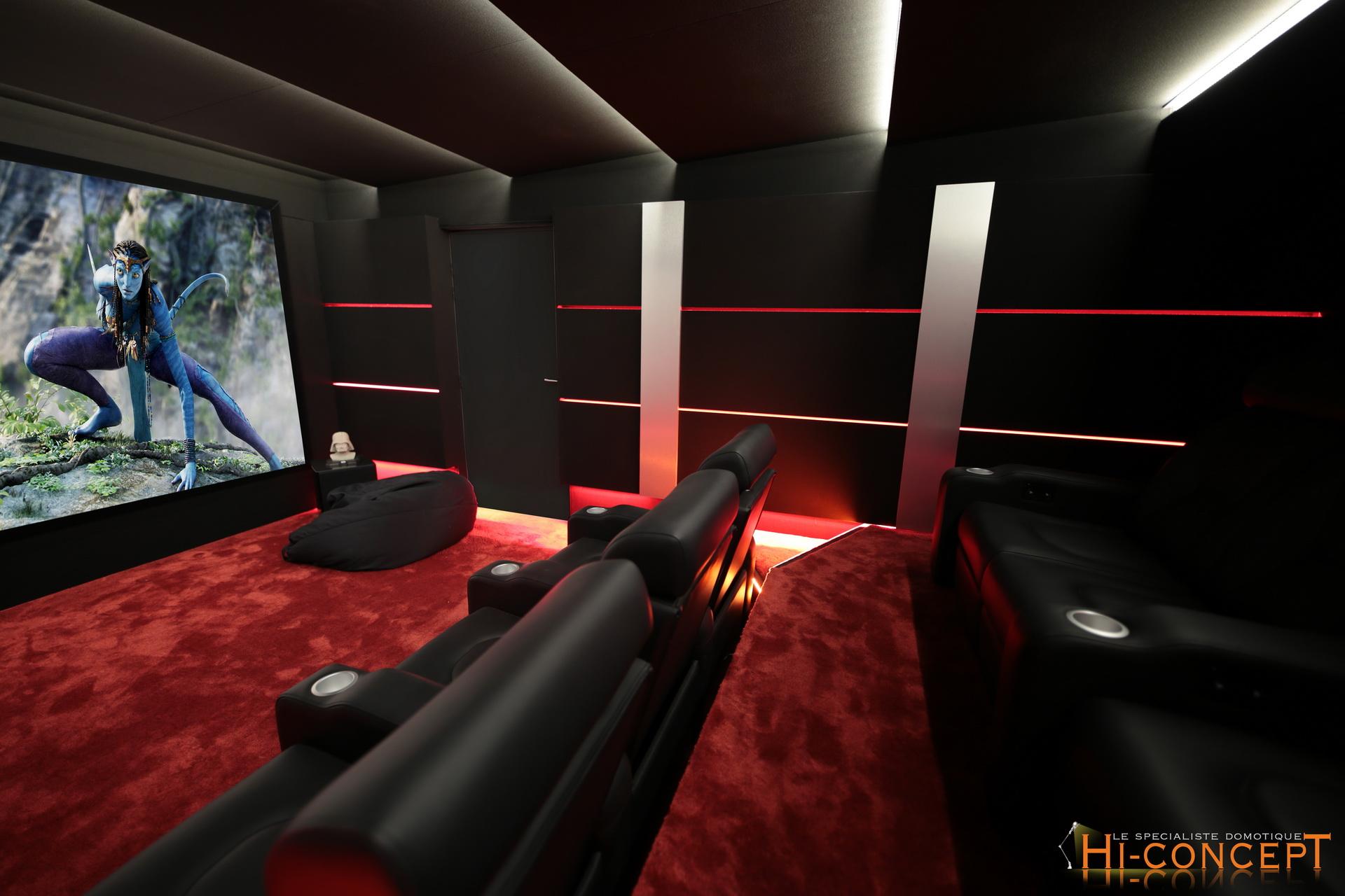 Salle De Cinema Maison Domotique Hi Concept Domotique Et